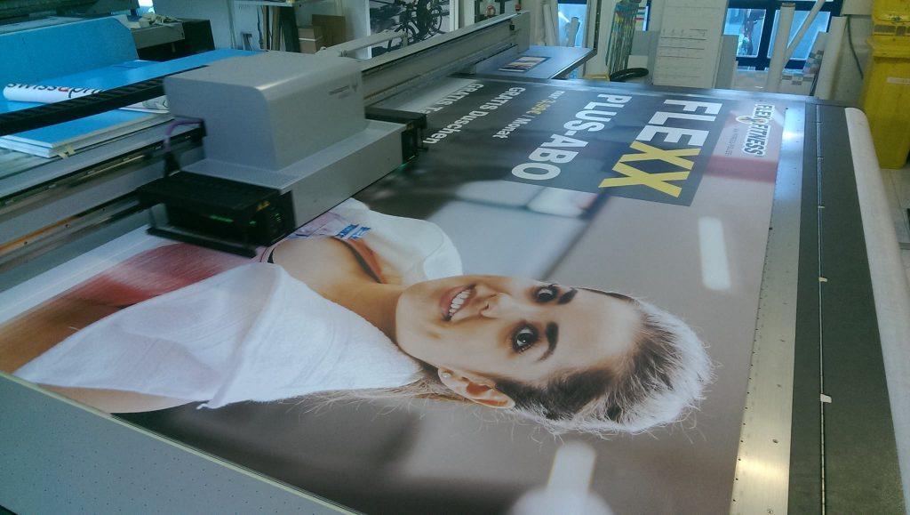 Digital Direktdruck bei Werbeschildern